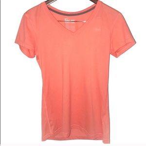 Nike Dri Fit T-Shirt V Neck Orange Womens Small